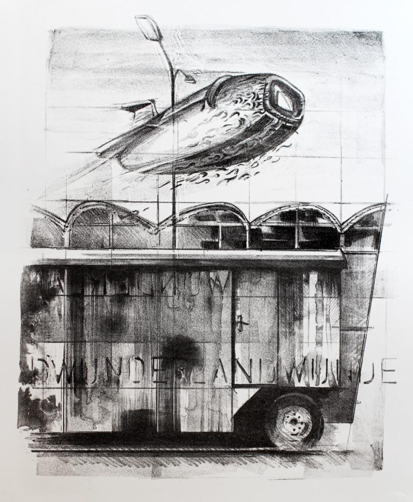 wunderland 1 Lithographie Druck: Christian Müller (2019)